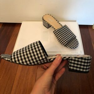 Bar lll gingham mules